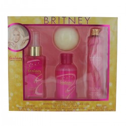 BRITNEY SPEARS FANTASY 100ML SPRAY SPRAY + SHOWER GEL 95ML + BATH SALTS 100GR