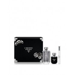 PRADA L HOMME EDT 100ML + GEL DUCHA 100ML + MINI EDT 10ML SPRAY