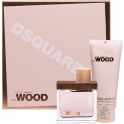 DSQUARED SHE WOOD EDT 50ML + LOCION CORPORAL 100ML