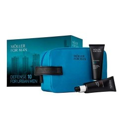 ANNE MOLLER MAN FLASHTEC URBAN DEFENDER 50ML + GEL HIDRATANTE PROTECTOR 50ML + NECESER