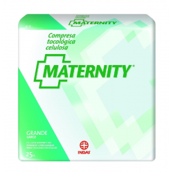MATERNITY PAD CELLULOSE ANATOMICA GRANDE 25 UNITS