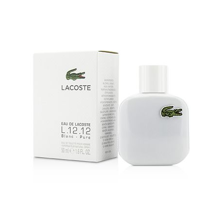 EAU OF LACOSTE L 12 12 BLANC PURE EDT SPRAY 50ML