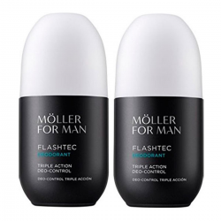 ANNE MOLLER FOR MAN FLASHTEC TRIPLE ACTION DESODORANTE CONTROL 75ML PACK 2 UNIDADES