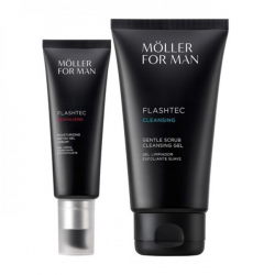 ANNE MOLLER FOR MAN FLASHTEC DETOX GEL CREAM 50ML + CLEANSING GEL 125ML
