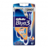 GILLETTE BLUE 3 MAQUIN DISPOSABLE 6 UNITS