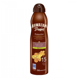 HAWAIIAN TROPIC PROTECTIVE DRY OIL SPRAY BRUSH SPF15 177ML