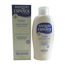 INSTITUTO ESPANOL BEBE BODY OIL SOFT BODY OIL SENSITIVE SKIN WITHOUT ALLERGEN 150ML