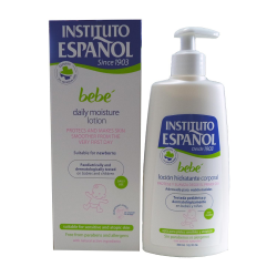 INSTITUTO ESPANOL BABY LOTION BODY LOTION NEWLY BORN SENSITIVE SKIN WITHOUT ALLERGEN 300ML