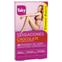 CHOCOLATE BODY WAX BELTS DEPILATORIES 12 + 8 UNITS