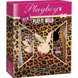 PLAYBOY PLAY IT WILD DEODORANT 75ML + GEL SHOWER 250ML
