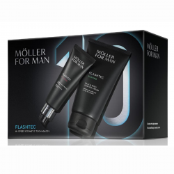 ANNE MOLLER FOR MAN FLASHTEC CREMA DE AFEITAR 125ML + GLOBAL ANTI-EDAD CREMA 50ML