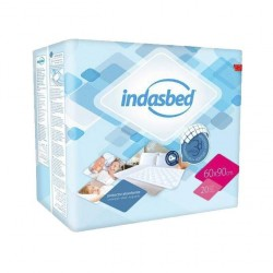 ABSORBENT INDASBED PROTECTOR 60X90 CM 20 UNITS