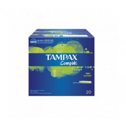 TAMPAX COMPAK TAMPON SUPER 22 REGULAR UNITS